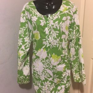 J. Crew Green Tropical Shirt Size XL